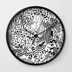 snow interference Wall Clock
