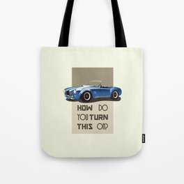 The Classic Game Cheat Code: How do you turn this on Funny Blue Cobra Car Tote Bag