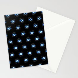 Evil Eye on Black Stationery Cards