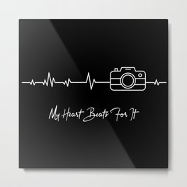 My heart beats for Fotography ECG Metal Print