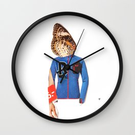 Normal Life · Schmetterlinge im Kopf Wall Clock