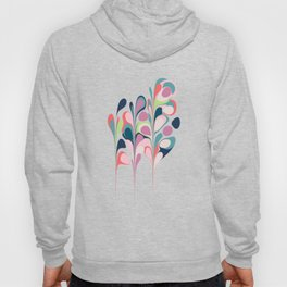 Colorful Abstract Floral Design Hoody