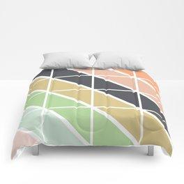 Retro Geometric Triangle Pattern Comforters