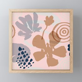 Abstract Leaves and Flowers III Framed Mini Art Print
