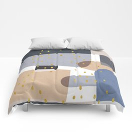 Conglomeration in Blue Comforters