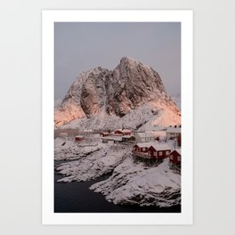 Hamnøy Winter Sunrise Art Print