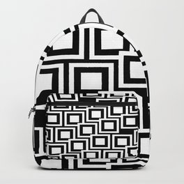 Black and White Squares Pattern 02 Backpack