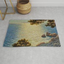 Classical Masterpiece 'Amalfi Coast, Italy' by Ivan Fedorovich Choultse Rug