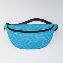 Abstract Geometric Pattern - Blue Fanny Pack