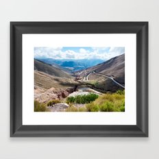 Crack in the Earth Framed Art Print