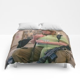 A Soldier & His Baby Comforters