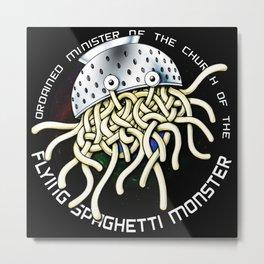 flying spaghetti monster Metal Print