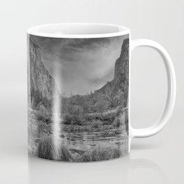 Valley View B & W 6656 - Yosemite National Park, CA Coffee Mug