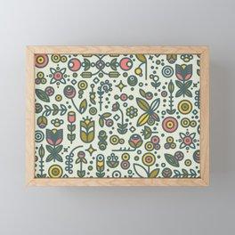 36dot Flower Garden Framed Mini Art Print