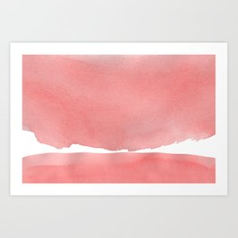 Minimal Pink Abstract 04 Landscape Art Print