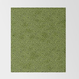 PSYCHOBILLY GREEN LEOPARD PRINT – Lime Green | Collection : Leopard spots – Punk Rock Animal Prints. Throw Blanket