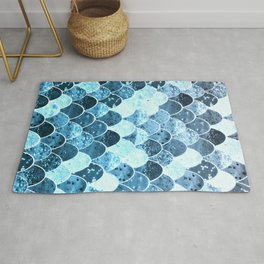REALLY MERMAID SILVER BLUE Rug