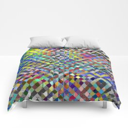 Holy Square Glitch Pattern Comforters