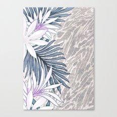 Denim Blooms Forever Canvas Print