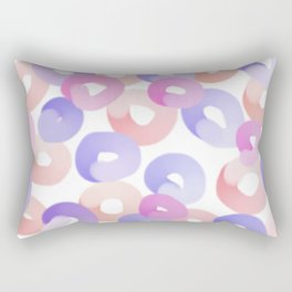 colorful art, round circles, sweet donuts Rectangular Pillow