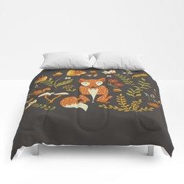 Fox in an Autumn Garden Comforters