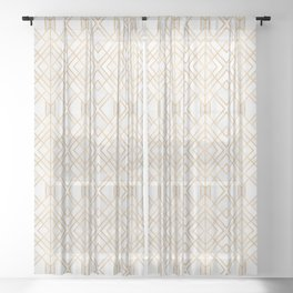 Golden Geo Sheer Curtain