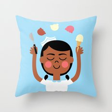 One Scoop or Two? Throw Pillow