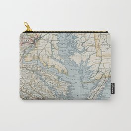 Vintage Map of the Chesapeake Bay (1901) Carry-All Pouch