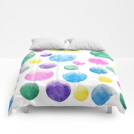 cheerful colorful bubbles Comforters