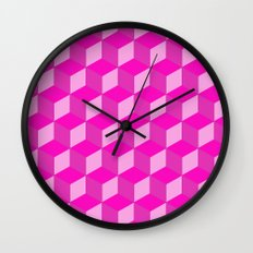 Geometric Series (Pink) Wall Clock