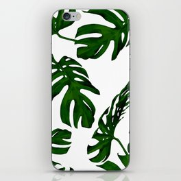 Simply Tropical Palm Leaves in Jungle Green iPhone Skin