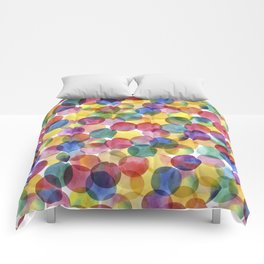 Multi-Color Watercolor Paint Dabs Pattern Comforters