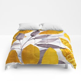Delicacy in Gold Comforters