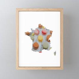 Macaron France Silhouette Framed Mini Art Print