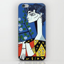 Picasso - Jacqueline with flowers iPhone Skin