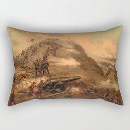 Civil War Capture of Fort Fisher by J.O. Davidson Rectangular Pillow