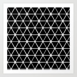 HEX - black & white Art Print