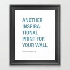 Inspiration. Framed Art Print