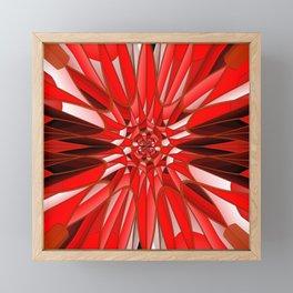 Red mineral Framed Mini Art Print