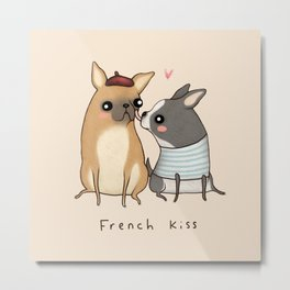 French Kiss Metal Print