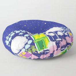 starry night Floor Pillow