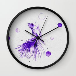 Siamese Fighting Fish in Ink Wall Clock