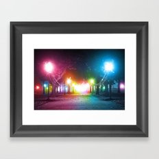 A Night in the Park Framed Art Print