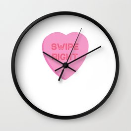 Swipe Right Valentines Day Dating App  Wall Clock