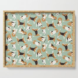 beagle scatter mint Serving Tray