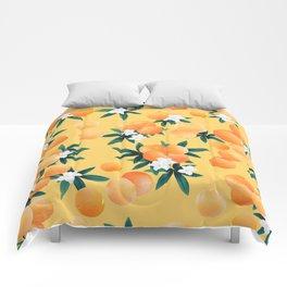 Orange Twist Flower Vibes #3 #tropical #fruit #decor #art #society6 Comforters