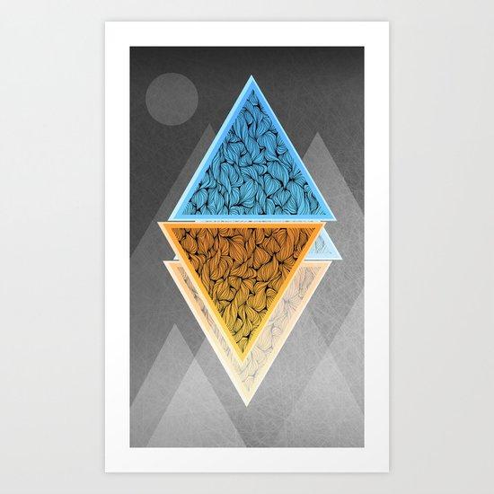 Rhombs Art Print