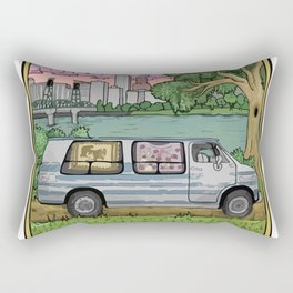 Live In A Van Down By The River (Colored) Rectangular Pillow