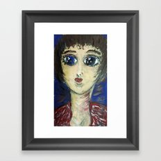 THE GIRL WHO PROTECTED OTHERS FROM TRENT Framed Art Print