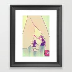 Girl With Gun 2 Framed Art Print